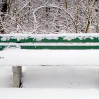 zimowa ławeczka