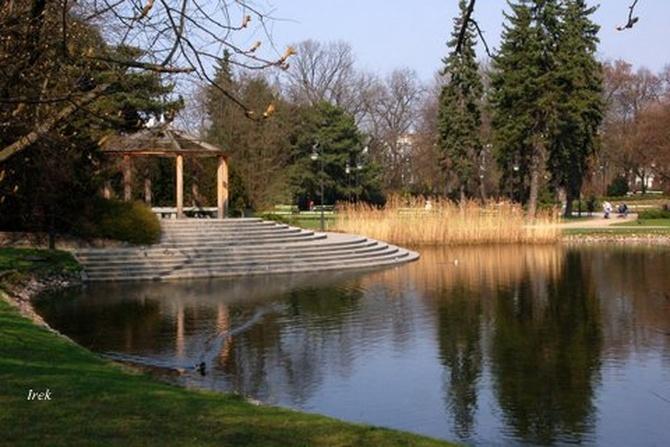 Park wiosną w moim mieście