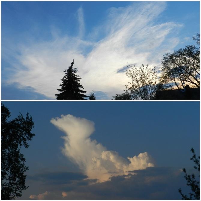 Ciekawe chmury na niebie
