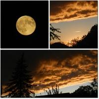 Wczorajsze niebo po zachodzie słońca